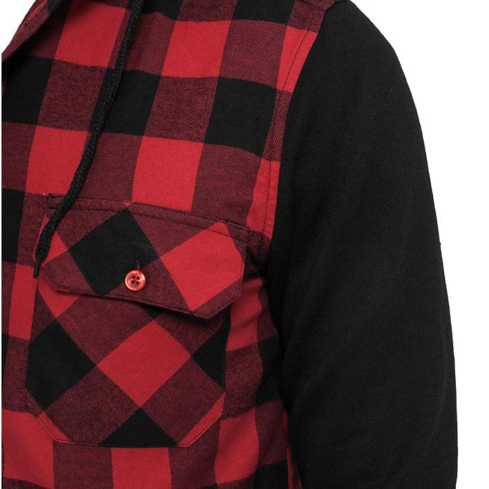 Men's JC SOCIAL CLUB Hooded Flannel Sweat Sleeve Shirt