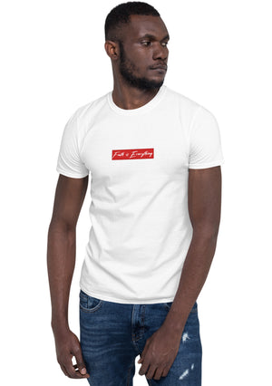 FAITH IS EVERYTHING CENTER CREW NECK T-SHIRT (WHITE)