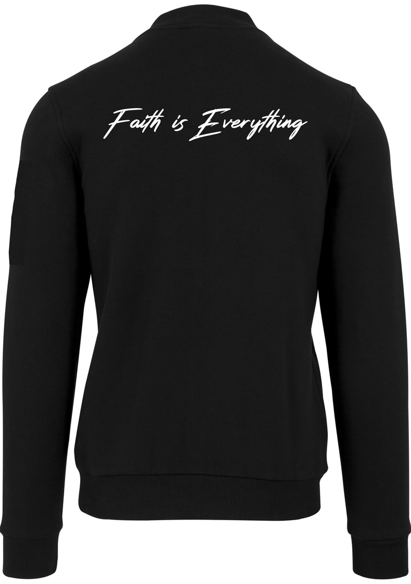FAITH IS EVERYTHING UNISEX JERSEY BOMBER