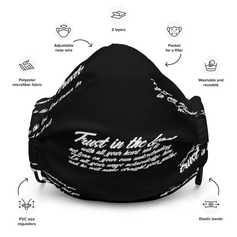 TRUST GOD Graffiti Face mask (black)