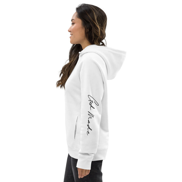 Unisex GOD MADE pullover hoodie (White)