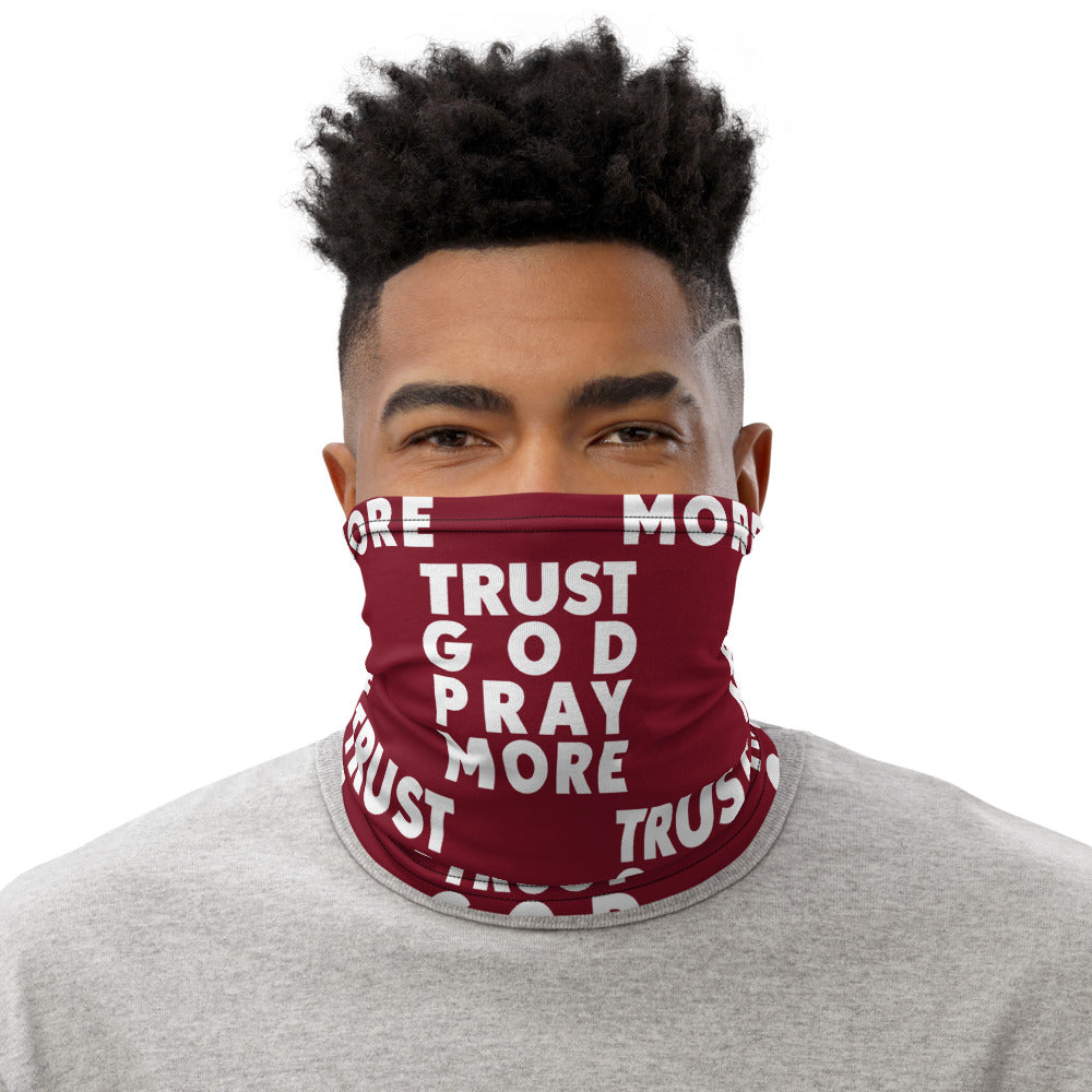 Trust God Neck Gaiter (Red)