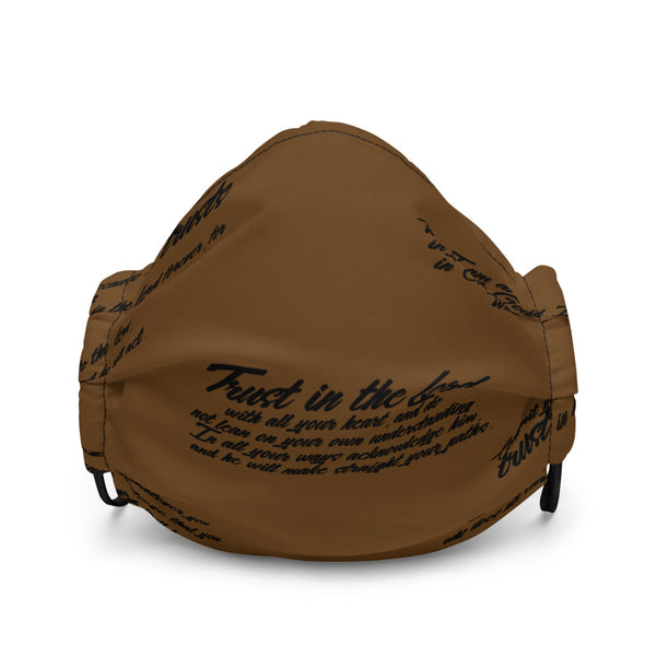 TRUST GOD GRAFFITI Premium face mask (BROWN)