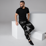 Men's TRUST GOD Black Graffiti Joggers
