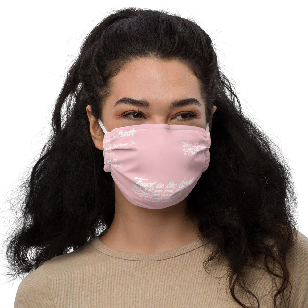 TRUST GOD GRAFFITI Premium face mask (PINK)