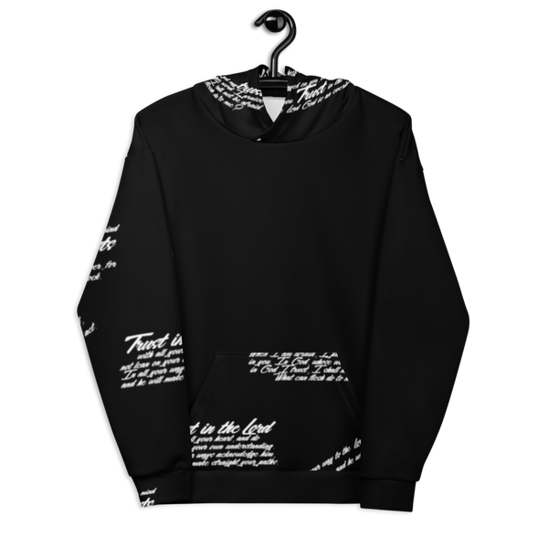 Unisex TRUST GOD Graffiti Hoodie (black)