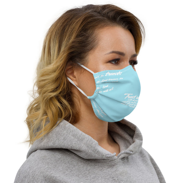 TRUST GOD GRAFFITI Premium face mask (BLUE)