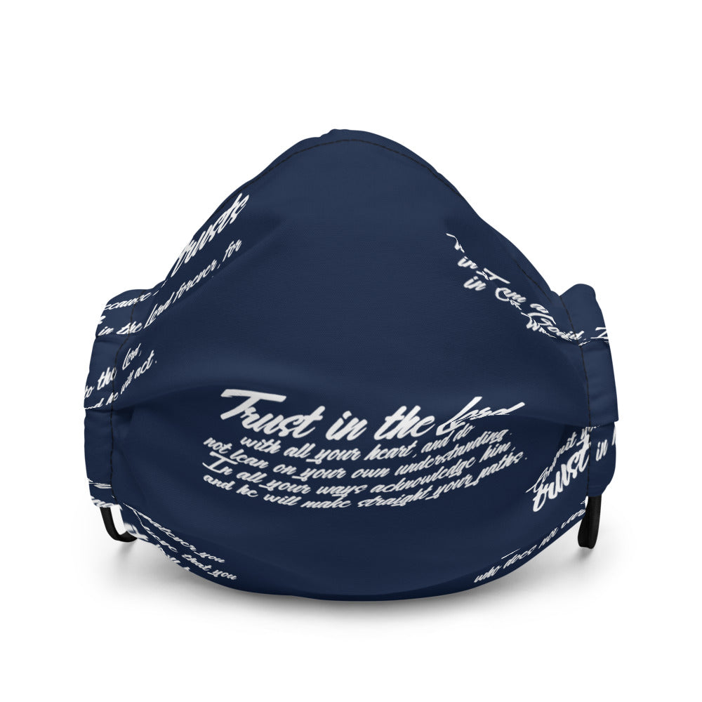 NAVY TRUST GOD GRAFFITI Premium face mask