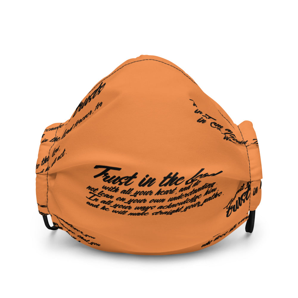 TRUST GOD Graffiti Face mask (orange)