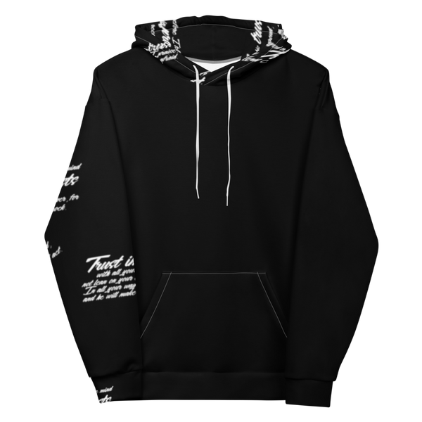 Unisex Trust God Simple Graffiti Hoodie