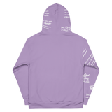 Unisex Simple Purple Trust God Graffiti Hoodie