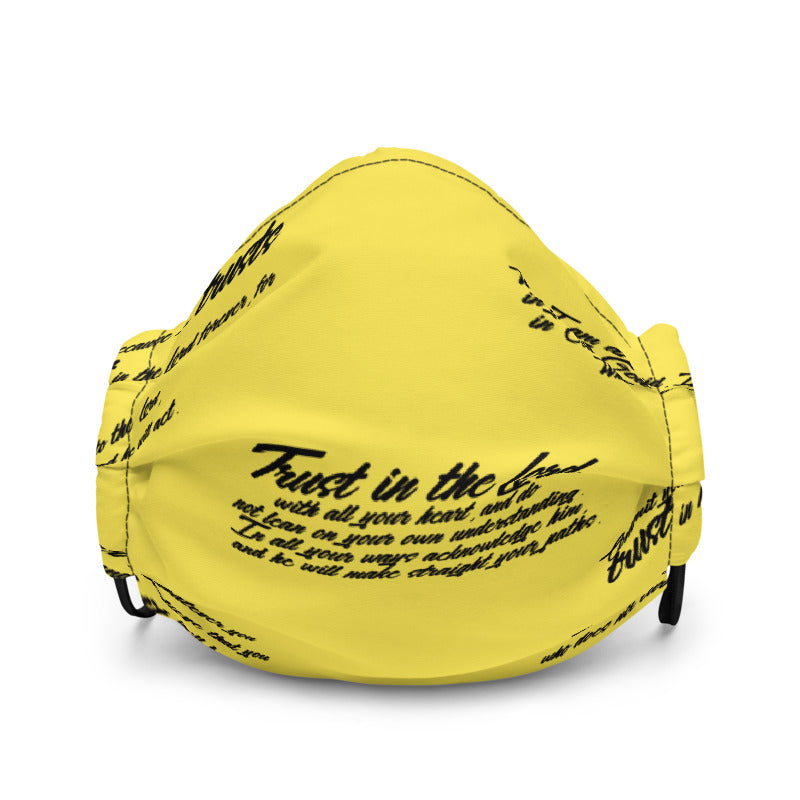 TRUST GOD Graffiti Face mask (yellow)