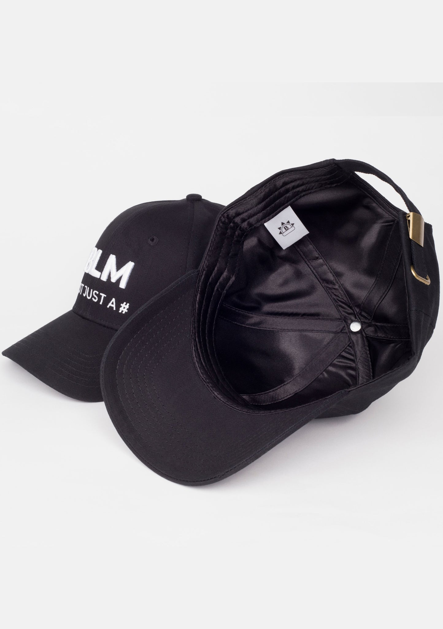 BLM Not just a # (Satin lined) Hat