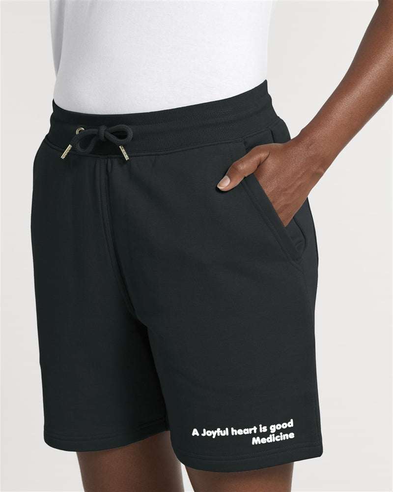 The Proverbs Unisex Black Terry Jogger Shorts