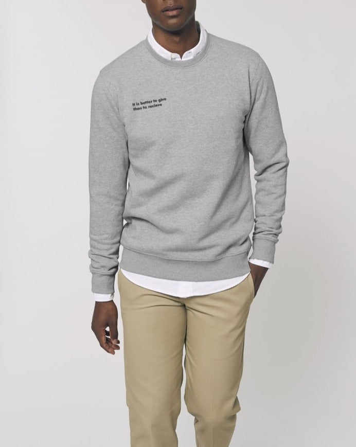 The Proverbs Unisex Heather Grey Crew Neck Sweatshirt