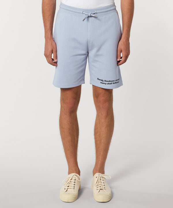 The Proverbs Unisex Light Blue Terry Jogger Shorts
