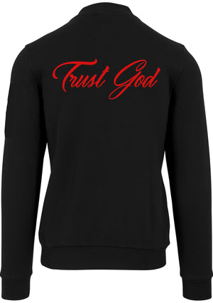 PRAY MORE TRUST GOD UNISEX JERSEY BOMBER