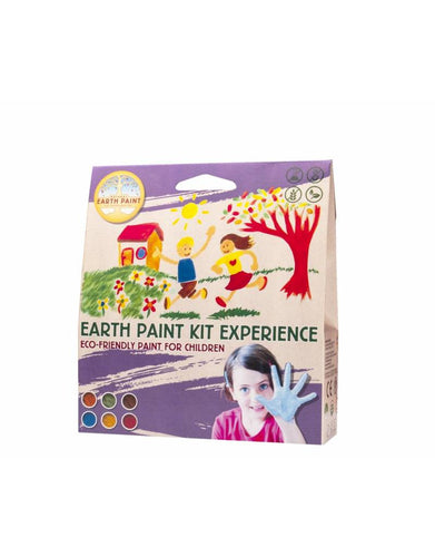 Natural earth paint - 6 farger og 3 pensler