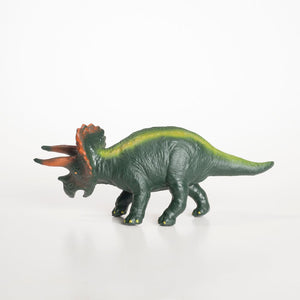 Green Rubber Toys -Triceratops