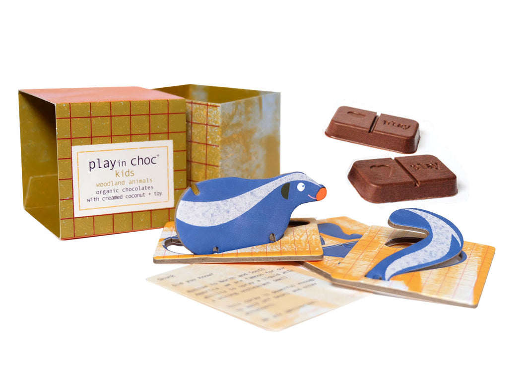 Play in choc «Kinderegg» -Skogsdyr-