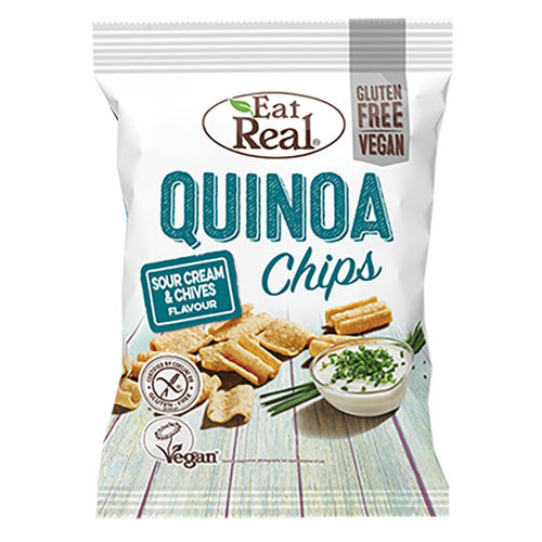 EatReal quinoa chips sour cream and chives 80 gr