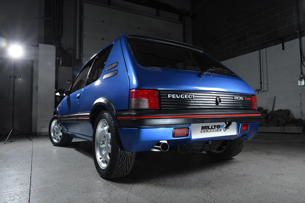 Milltek Exhaust System - Peugeot 205 GTi 1.6 and 1.9 (non-cat models)