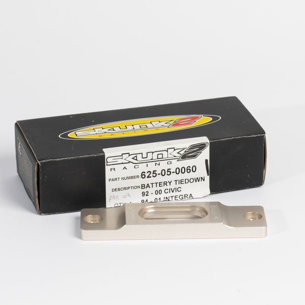 Skunk2 Billet Battery Tiedown - Gunmetal - automek-servicing-repairs-performance-parts-centre