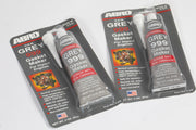 Sealer Abro GREY 999 RTV Silicone Instant Gasket Maker Sealant Adhesive Sensor Safe - Two Tubes