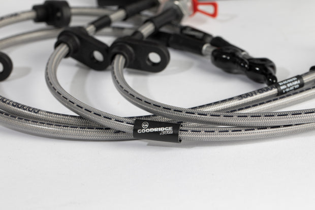Goodridge Braided Brake Line Hoses Set Honda Civic Type R FK8 - automek-servicing-repairs-performance-parts-centre