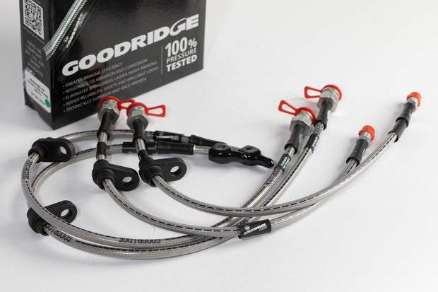 Goodridge Braided Brake Line Hoses Set Honda Civic EK