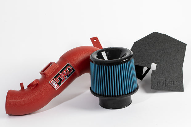 Injen Short Ram Intake System in Wrinkle Red - Civic Type R FK8 F20C