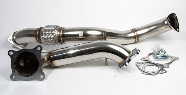 HKS Stainless Steel Downpipe & Midpipe / Overpipe - Honda Civic Type R FK8 K20C - automek-servicing-repairs-performance-parts-centre