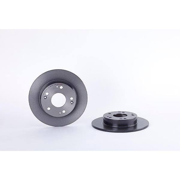 Pair Of Rear OE Replacement Brembo Solid Brake Discs - Honda Civic Type R FN2 - automek-servicing-repairs-performance-parts-centre