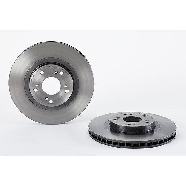 Pair Of Front OE Replacement Brembo Vented Brake Discs - Honda Civic Type R FN2 - automek-servicing-repairs-performance-parts-centre