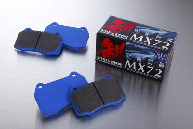 Endless MX72 Performance Brake Pads - MITSUBISHI EVO X* 2008 - Onwards - Rear Brake Pads EP452