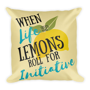 Lemon Initiative Pillow
