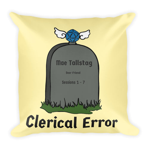 Clerical Error Pillow