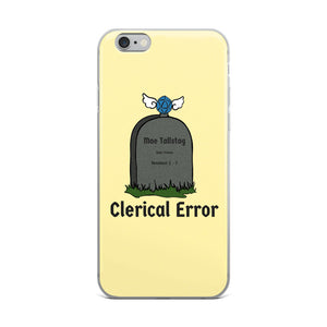 Clerical Error Iphone Case