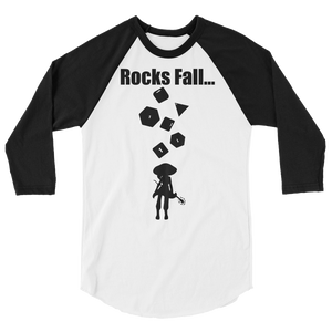 Unisex Rocks Fall Raglan