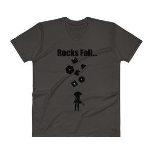 Open image in slideshow, Rocks Fall Men's V-Neck