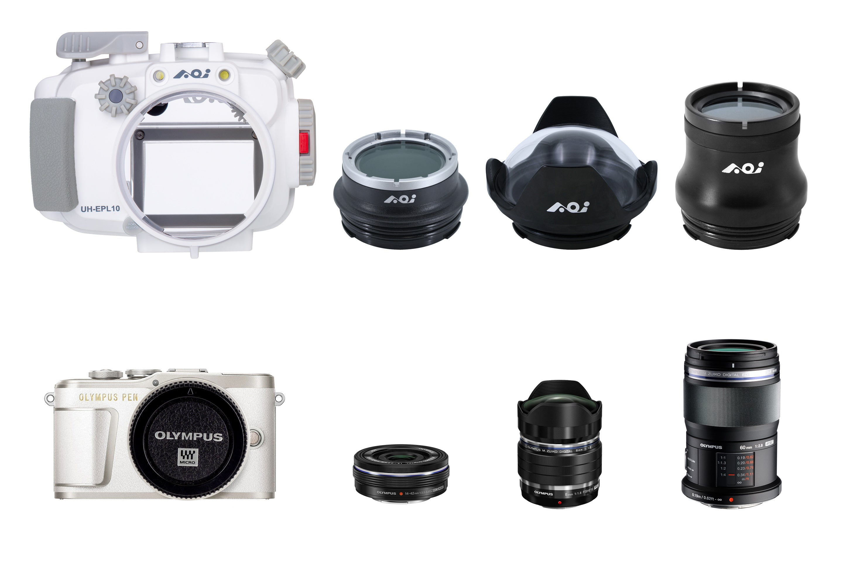 AOI UH-UPL10 Underwater Housing for Olympus Pen EPL-9/EPL-10