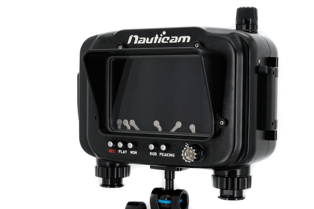 "Nauticam Atomos Ninja V Housing for Atomos Ninja V 5"" 4Kp60 4:2:2 10-bit Reorder/Monitor/Player (excl. HDMI 2.0 cable) Include hood, vacuum valve; exclude HDMI cable"