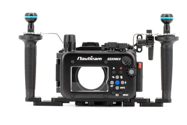 Nauticam NA-G5XII Housing Package (inc. flexitray, right handle, two mounting balls, M14 vacuum valve, shutter extension)