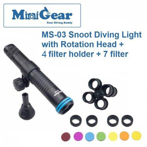 Minigear MS-03 Snoot Diving Light (RH+4FH+7CF)