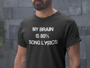 The 80% Song Lyrics Shirt