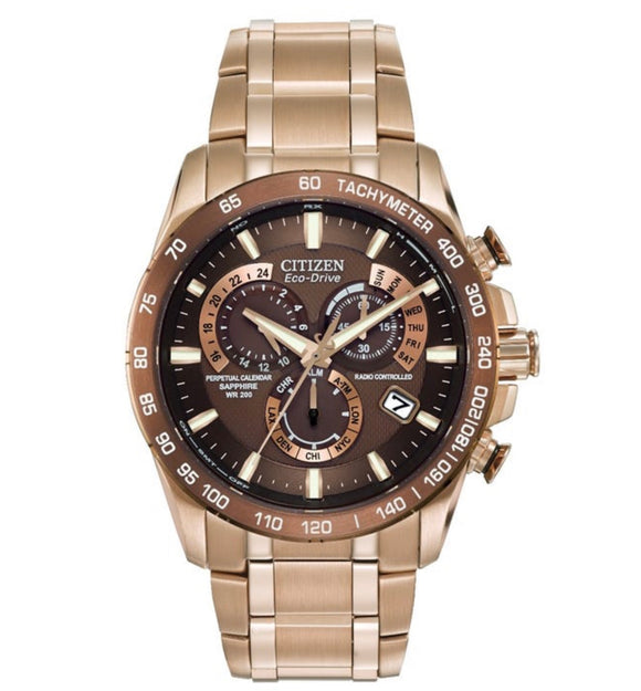 Citizen, Watch Perpetual, Chrono Atomic Timekeeping, AT4106-52X,Eco Drive, Gents, Chronograph