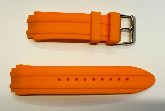 Guess, Strap, W0966G1, Turbo, Orange, Silicone, Rub, Watch Band