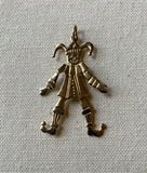 Gold Articulated Jester, Clown, Pendant, 9ct, Preowned.