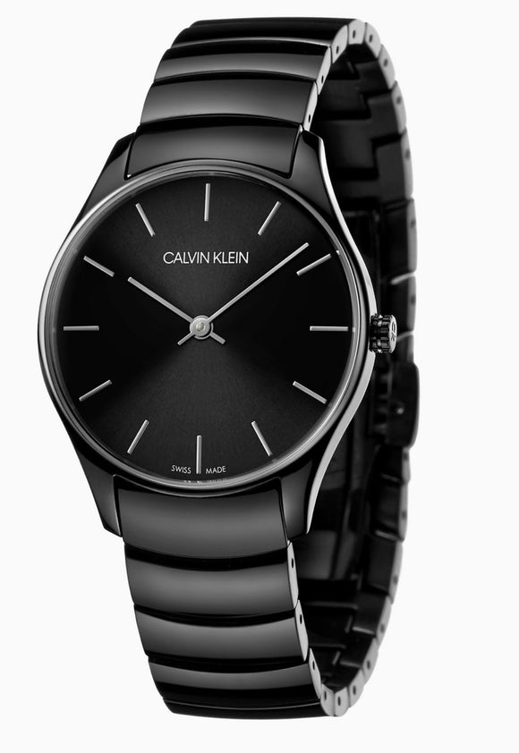 Calvin Klein, Watch, City, K4D21441, 38mm, Black, Swiss Made