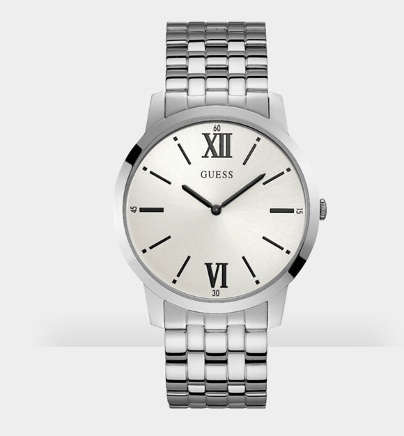 Guess W1072G1 Iconic Stainless Steel, Silver Dial, Watch